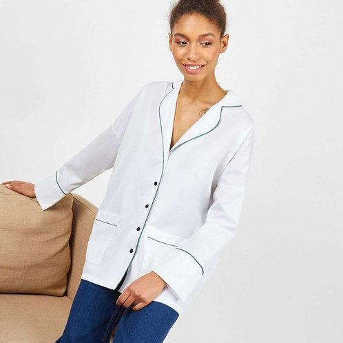 Рубашка с Зеленым кантом (Белый)