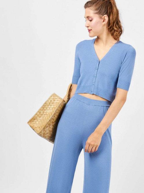 12STOREEZ комплект; топ, брюки из трикотажа (голубой)