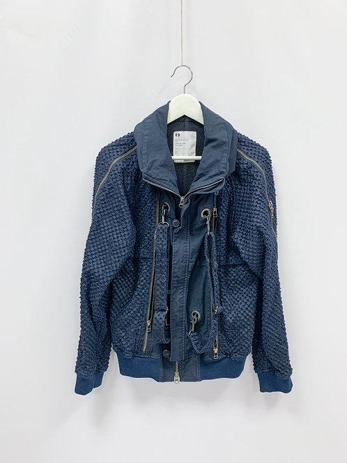 Мужская Текстурная куртка на молнии с сетчатыми вставками