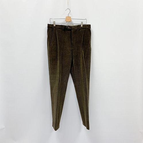 Мужские зеленовато-коричневые вельветовые брюки