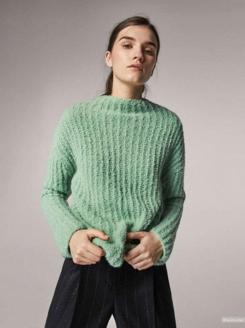 Massimo Dutti свитер мягкий из шерсти (бирюзовый)