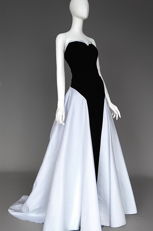 Черно-белое платье Танцы на ТНТ