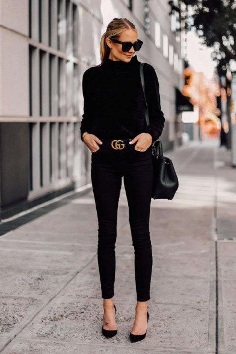 Gucci джинсы зауженные (Черный)