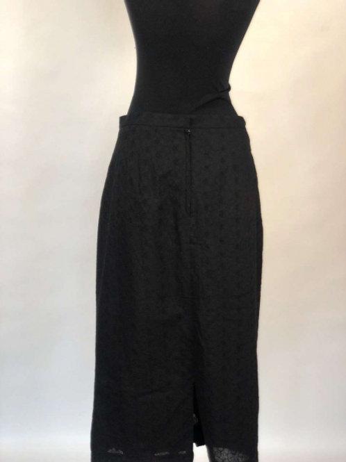 Черная юбка с бантами вдоль