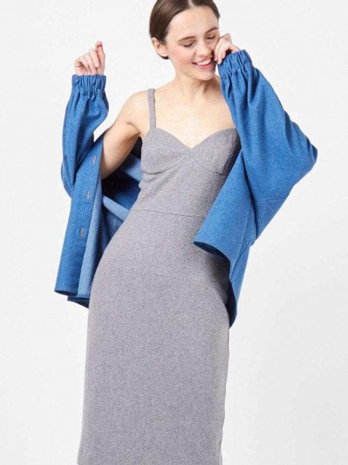 12STOREEZ платье комбинация на толстых бретелях