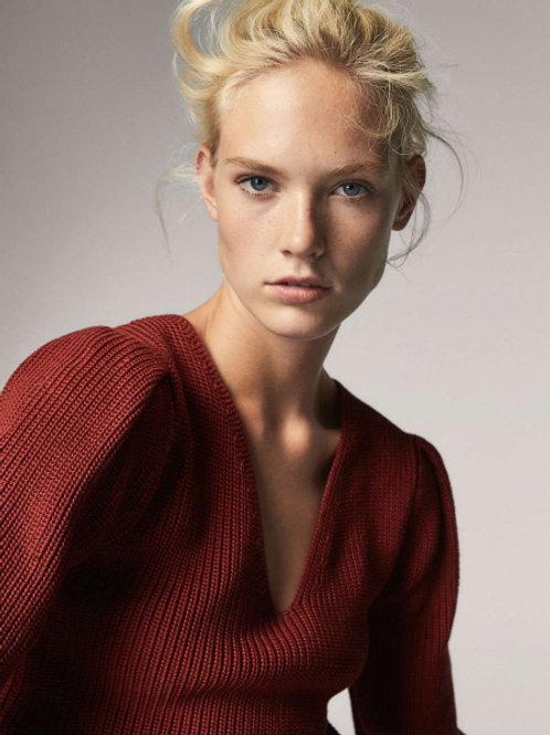 Massimo Dutti свитер крупной вязки (красный)