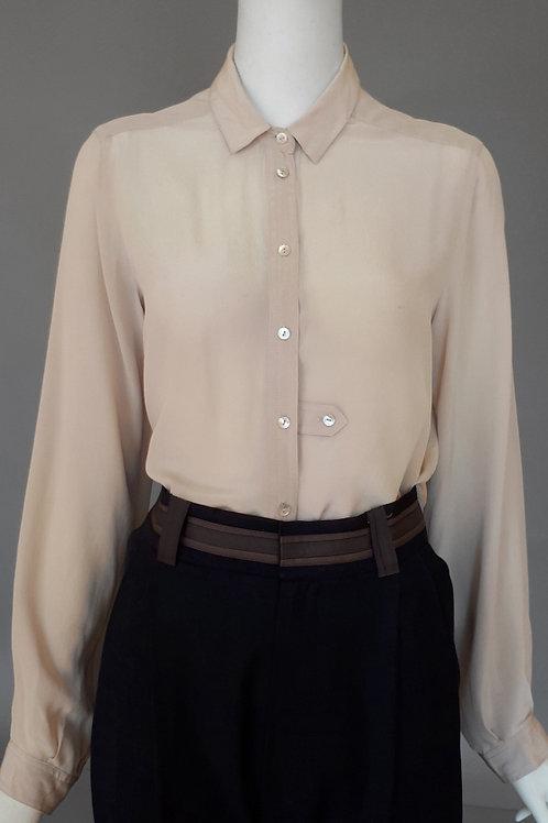 Шелковая бежевая блузка