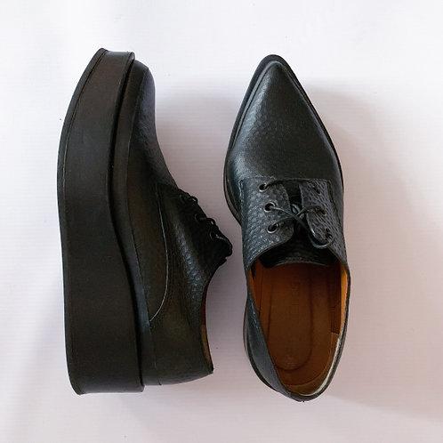 Ботинки с острыми носами на платформе