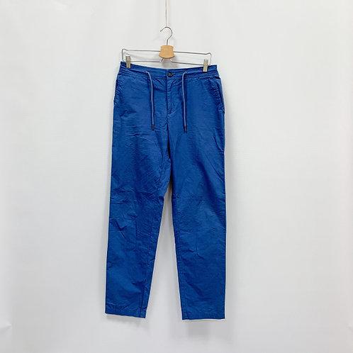 Мужские брюки спортивные синие на кулиске