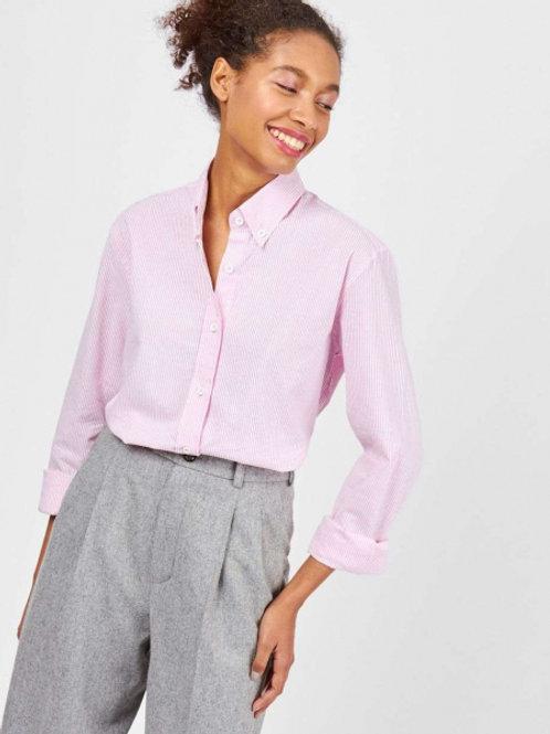 12STOREEZ Рубашка в мужском стиле (розовый)
