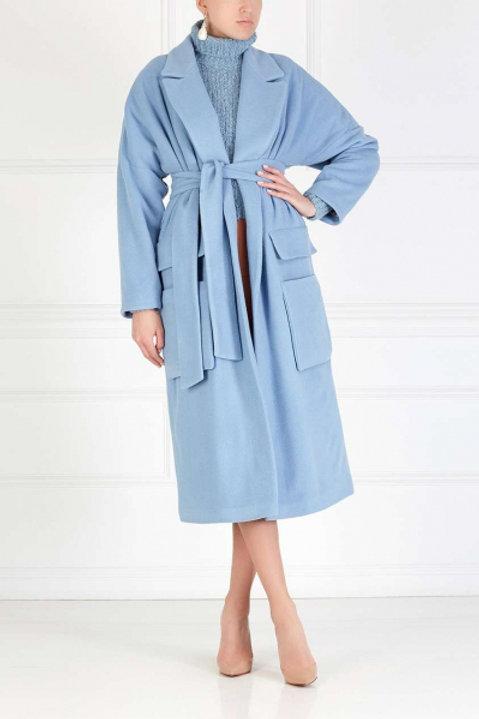 I AM STUDIO Шерстяное пальто (Голубой)