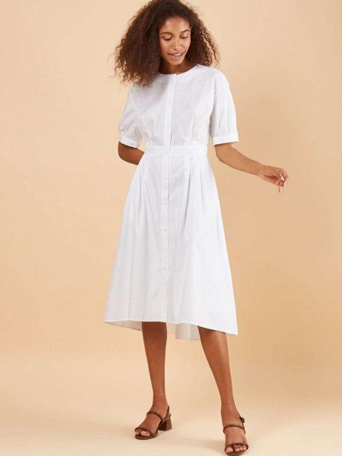 12STOREEZ Платье-рубашка с укороченным низом