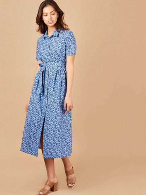 12STOREEZ платье миди с клапанами и съёмным поясом