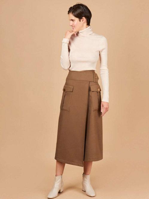 12STOREEZ Юбка с накладными карманами (коричневый)