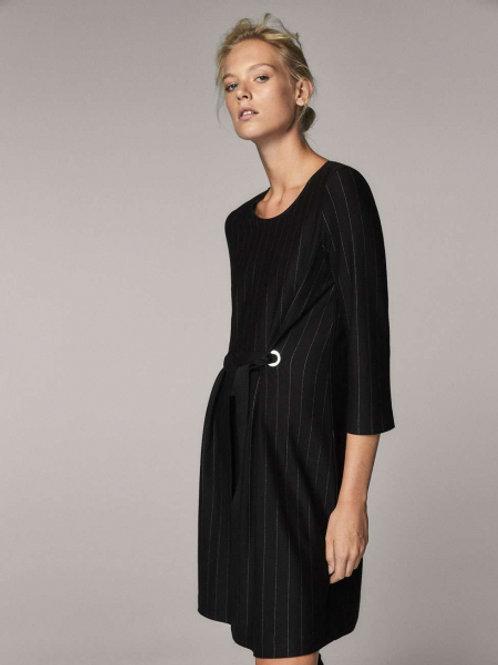 Massimo Dutti  платье в полоску (черное)