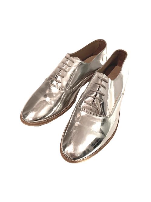 Серебрянные ботинки Zara