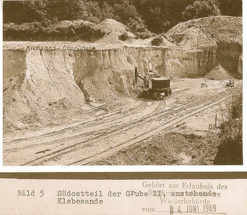 Klebesangewinnung 1969 (Südteil)