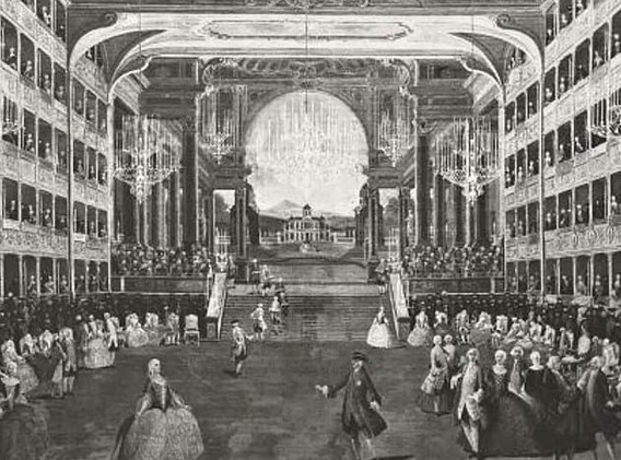 San Cassiano Theater in Venice around 1700