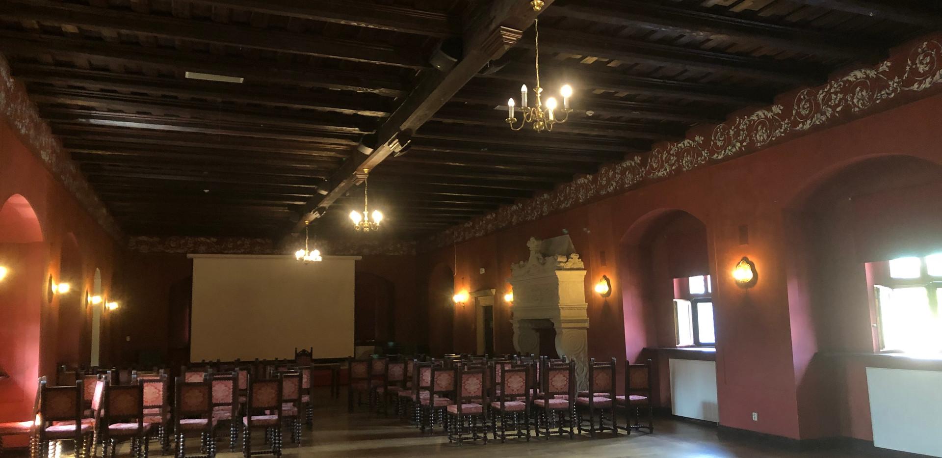 Saal im Schloss Kliczkow