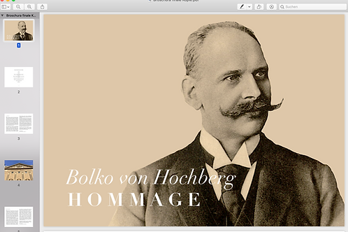 Bolko von Hochberg I Hommage (the program)