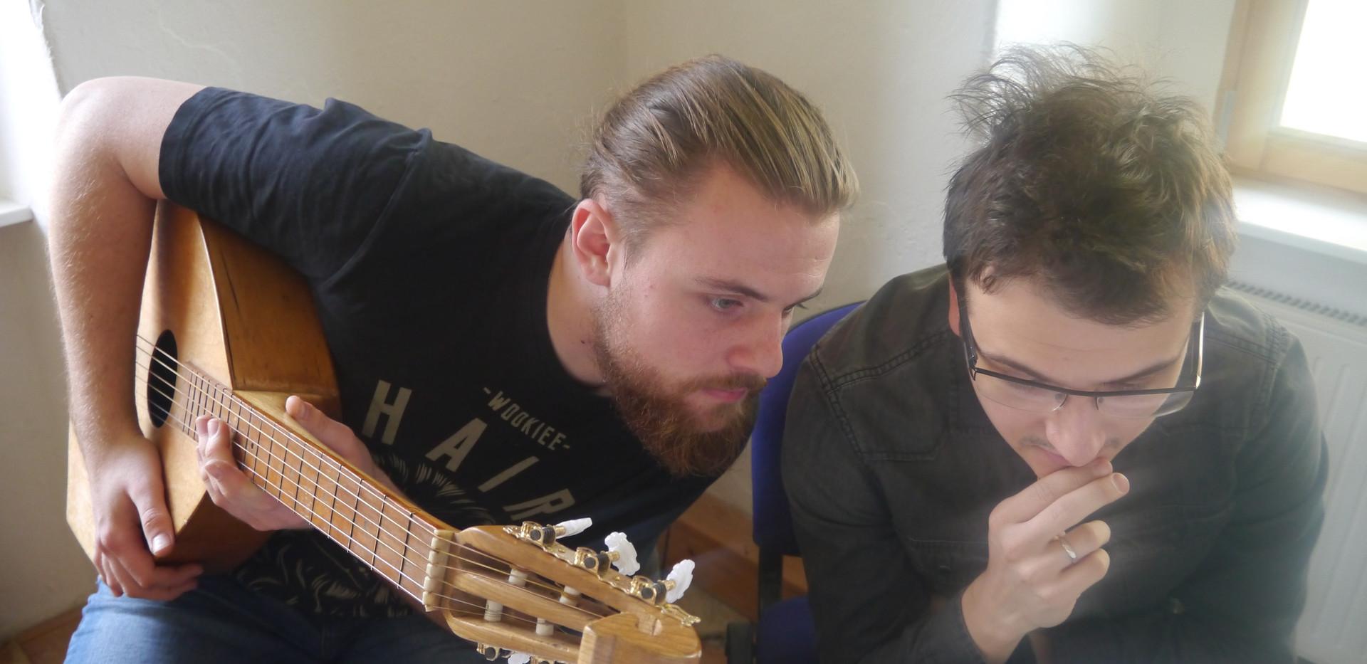 Adam Garnecki und Dominik Lewicki