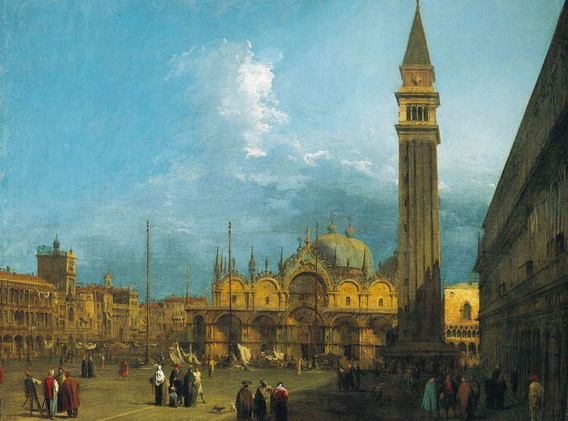 Canaletto-Piazza San Marco to the east