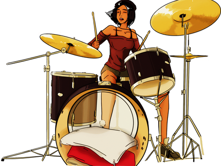 How I feel my way on the drums