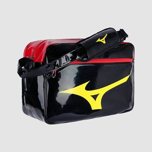 """Большая лакированная сумка """"Mizuno"""" черно-желто-красная"""