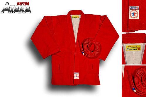 """Куртка для самбо """"Атака"""", лицензированная ВФС"""