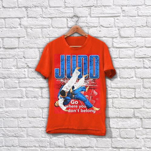 """Футболка """"Judo"""" Красная"""