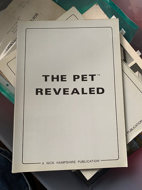The commodore pet revealed by nick Hampshire rare