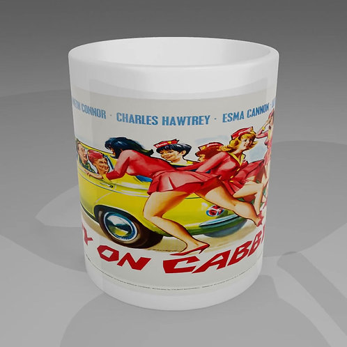 Carry On Cabbie Movie Poster Mug