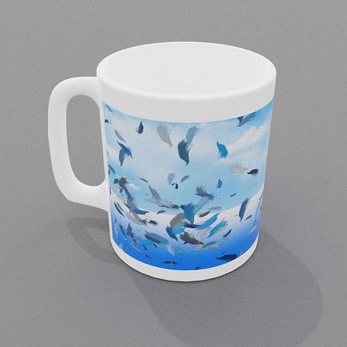 Feathers in the wind Mug