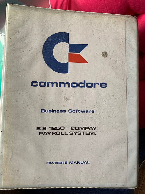 Commodore payroll system with silicon chip