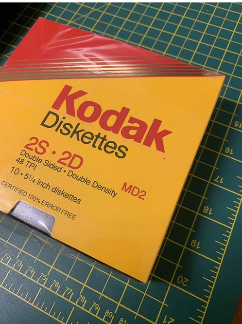 Pack of new kodak branded old stock sealed floppy disks