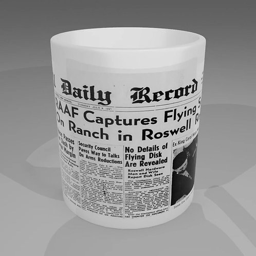 Roswell News Paper Mug