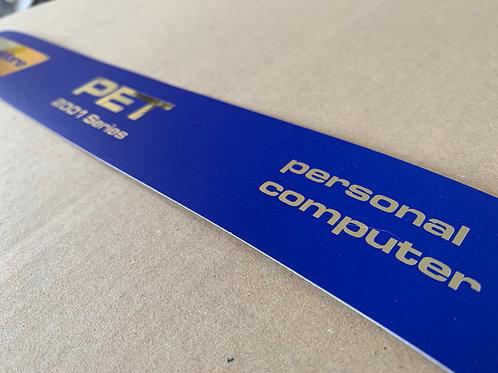 Commodore pet blur screen remanufactured label style 2