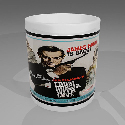James Bond From Russia With Love Movie Poster Mug