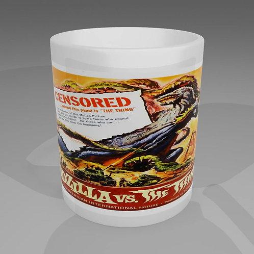 Godzilla Vs The Thing Movie Poster Mug