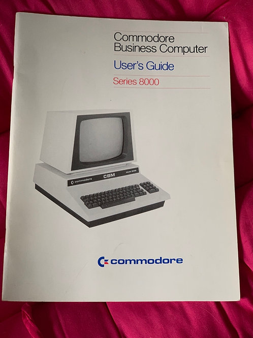 Commodore pet users guide series 8000