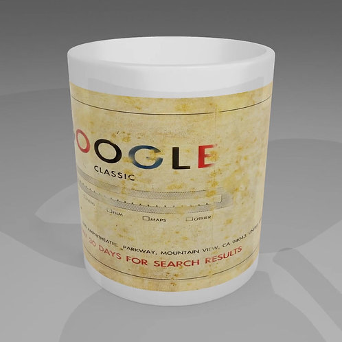 Vintage Google Mug