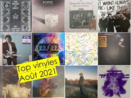 Top des vinyles les plus populaires : Août 2021