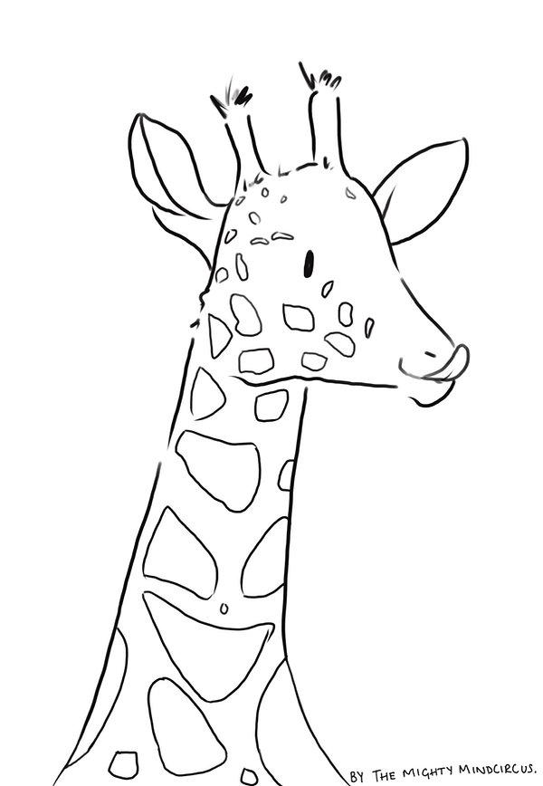 Giraffe colouring sheet