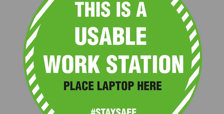 Covid 19 usable work station vinyl sticker
