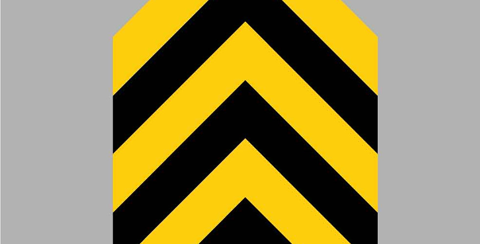 Covid-19 2 meters apart one way chevron floor vinyl graphic