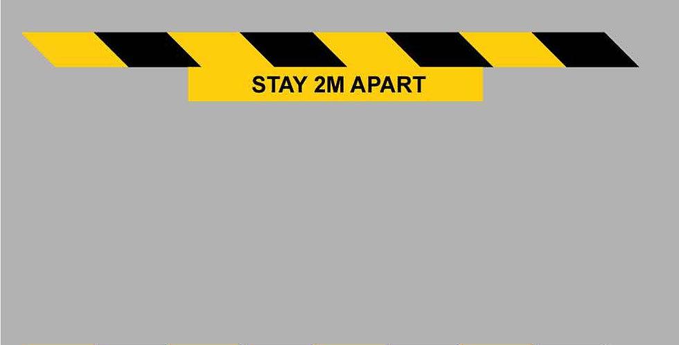 Covid-19 2 meters apart chevron floor vinyl graphic (Twin Pack)