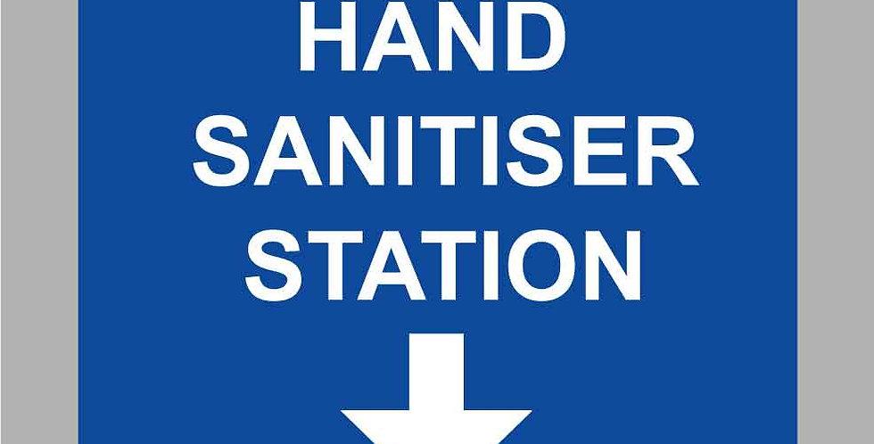 Covid-19 hand sanitiser station vinyl sticker