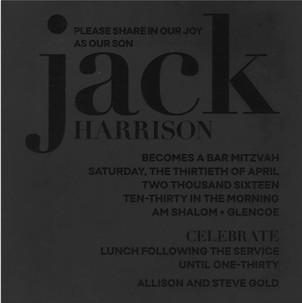 Jack Harrison Bar Mitzvah