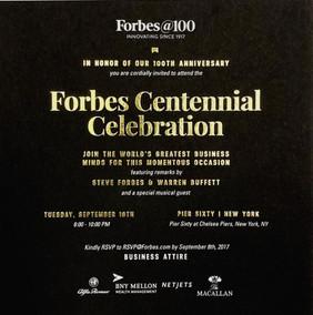 Forbes Centennial Invitation