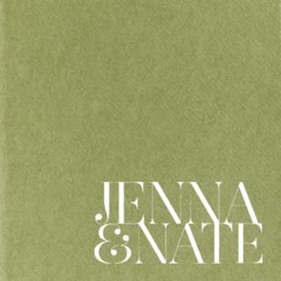 Jenna & Nate Napkin